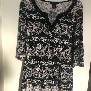 Dress with multiple patterns